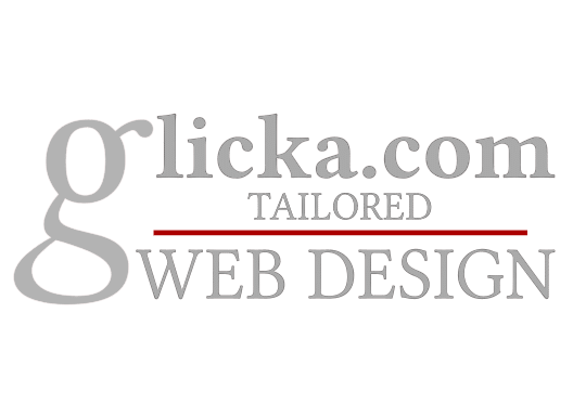 Glicka.com Tailored Web Design light Logo